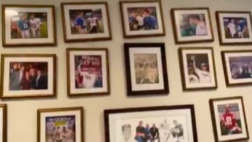 Eli Manning's picture wall in his house