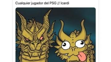 Icardi fue un foco de los memes de las semifinales