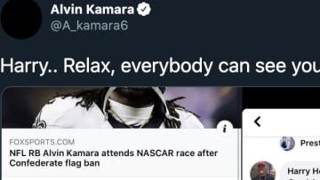 New Orleans Saints RB Alvin Kamara put a random fan on blast for using racial slurs on social media.