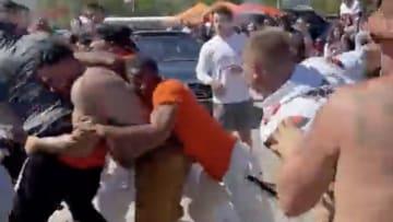 Browns fans brawl