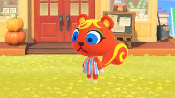 Caroline is a normal squirrel villager in Animal Crossing New Horizons.