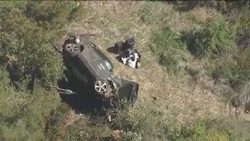 Tiger Woods' car after a rollover crash