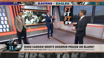 "Stephen A. Smith, Dan Orlovsky and Max Kellerman on ""First Take"""