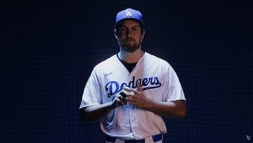 Trevor Bauer in a Dodgers uniform