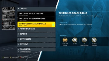 Here's how to compete the scheduled coach drills in NBA 2K22 MyCareer on Next Gen.