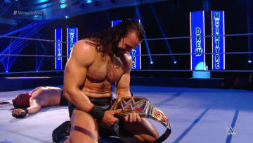 Drew McIntyre beats Brock Lesnar to win WWE championship