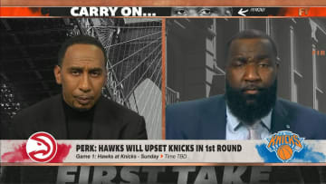 """Stephen A. Smith and Kendrick Perkins on ESPN's """"First Take"""""""