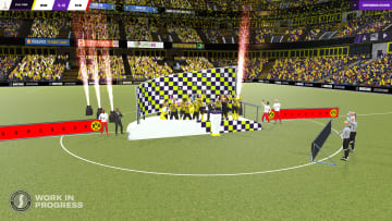 A more exuberant trophy presentation is one of numerous improved features in FM 2021