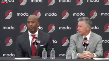 Chauncey Billups being introduced at as the new head coach of the Portland Trail Blazers
