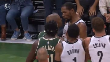 PJ Tucker and Kevin Durant get into it.