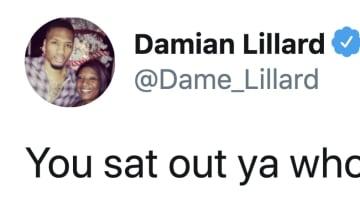 Damian Lillard went for Dan Orlovsky's juggular
