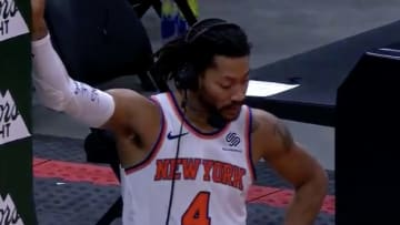 Derrick Rose was upset to hear about Mitchell Robinson.