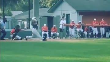 Jadyn Fielder launching a home run