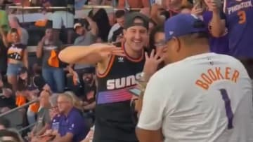 """""""Suns in Four"""" guy at the Western Conference Finals"""
