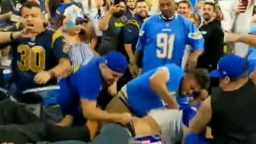 Rams and Chargers fans brawl at SoFi Stadium