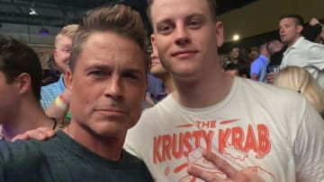 Noted LA Dodgers fan Rob Lowe has been spotted wearing 'Houston Asterisks' gear, a reason for all baseball fans to stand up and cheer.