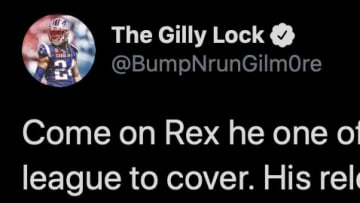 New England Patriots cornerback Stephon Gilmore did not appreciate recent criticism of Amari Cooper from his former head coach in Buffalo, Rex Ryan