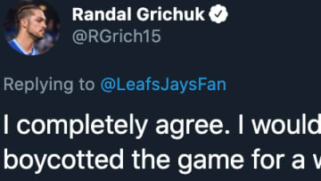 Toronto Blue Jays outfielder Randal Grichuk slammed MLB over its maddening negotiations with the players union.