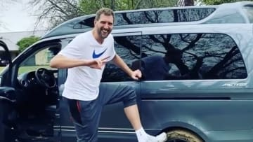 Drik Nowitzki went off-roading in his van and had to call former Mavericks teammate Deron Williams to help him escape from being stuck in the mud