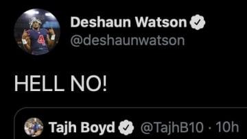Deshaun Watson responds to fellow former Clemson QB Tajh Boyd on Twitter