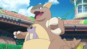Kangaskhan in the Pokémon anime.