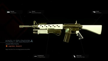 Kingly Splendor is a Legendary M4A1 Blueprint you can in Warzone.