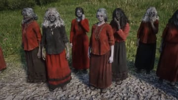 A bunch of cult-like zombies may be in Red Dead's Halloween event this year.