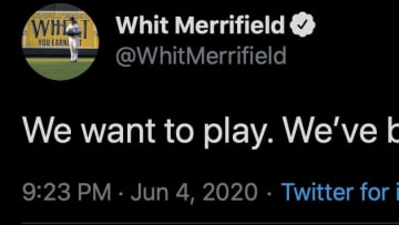 Royals second baseman Whit Merrifield responds to the lack of progress in negotiations between MLB and the players union.