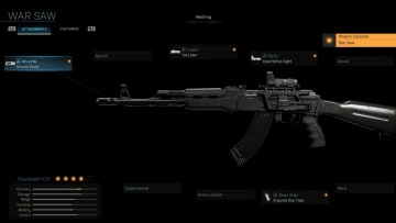 How to get the War Saw AK-47 Blueprint in Warzone.