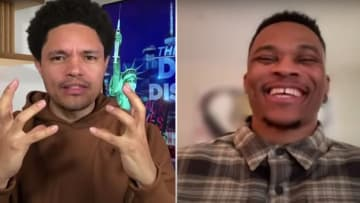 Trevor Noah and Russell Westbrook