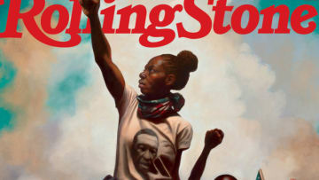 """Rolling Stone cover """"American Uprising"""" by Kadir Nelson."""