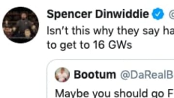 Spencer Dinwiddie got into a Twitter spat with a Knicks fan over Mitchell Robinson.