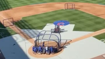 Chicago Cubs slugger Kris Bryant was taking batting practice at Wrigley Field.
