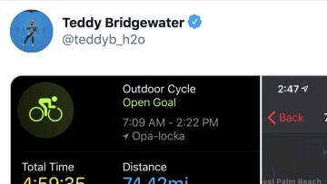 Teddy Bridgewater can bike farther than you can