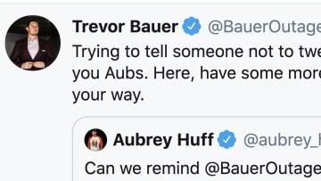 Trevor Bauer took a few shots at Aubrey Huff