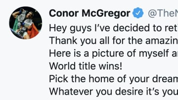 Conor McGregor is hanging it up once again
