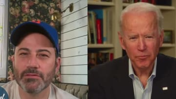 Joe Biden comically trolled Mets fan Jimmy Kimmel but did so in truly discomforting fashion