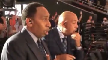 Stephen A. Smith and Michael Wilbon react to the Ayton oop.