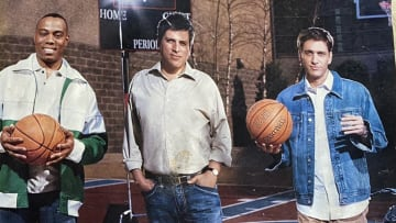 Jay Harris, Steve Levy and Mike Greenberg during senior year.