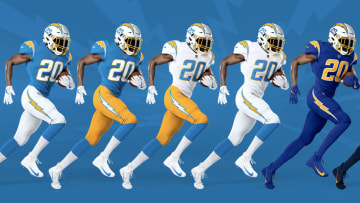 New Chargers uniforms