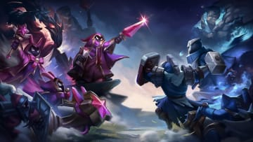 Red and Blue minions fight till their death.