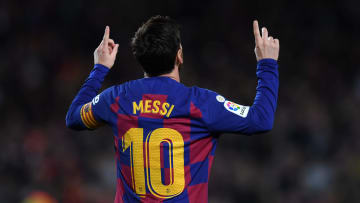 Leo Messi's number 10 shirt is currently vacant