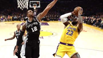 LaMarcus Aldridge San Antonio Spurs (Photo by Kevork Djansezian/Getty Images)