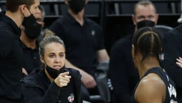 San Antonio Spurs Becky Hammon DeMar DeRozan (Photo by Ronald Cortes/Getty Images)