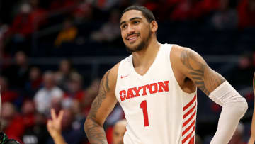DAYTON, OHIO - DECEMBER 17: Obi Toppin #1 of the Dayton Flyers in action in the game against the North Texas Mean Green at UD Arena on December 17, 2019 in Dayton, Ohio. (Photo by Justin Casterline/Getty Images)