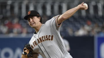 SAN DIEGO, CA - SEPTEMBER 18: Derek Holland #45 of the San Francisco Giants pitches during the first inning of a baseball game against the San Diego Padres at PETCO Park on September 18, 2018 in San Diego, California. (Photo by Denis Poroy/Getty Images)