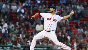 BOSTON, MA - SEPTEMBER 30: Drew Pomeranz #31 of the Boston Red Sox pitches at the top of the eighth inning of the game against the New York Yankees at Fenway Park on September 30, 2018 in Boston, Massachusetts. (Photo by Omar Rawlings/Getty Images)