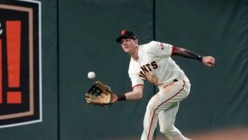 Giants outfielder Mike Yastrzemski. (Photo by Thearon W. Henderson/Getty Images)