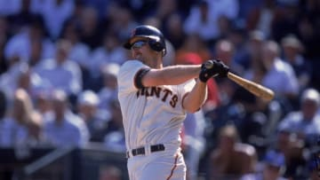 20 Oct 2001: Jeff Kent #21 of the San Francisco Giants swings for the bleachersduring the game against the Houston Astros at Pac Bell Park in San Francisco, California. The Astros defeated the Giants 5-4.Mandatory Credit: Tom Hauck /Allsport