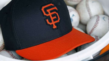 SF Giants hat. (Photo by Ralph Freso/Getty Images)